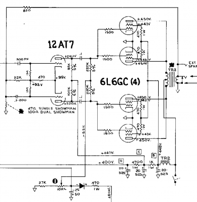 Fender Showman AA763 schematic