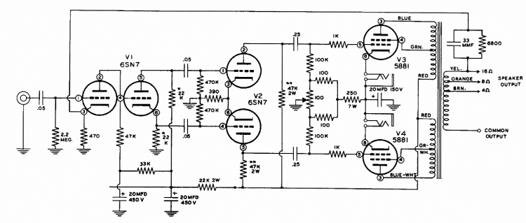 Heathkit model W-3M schematic