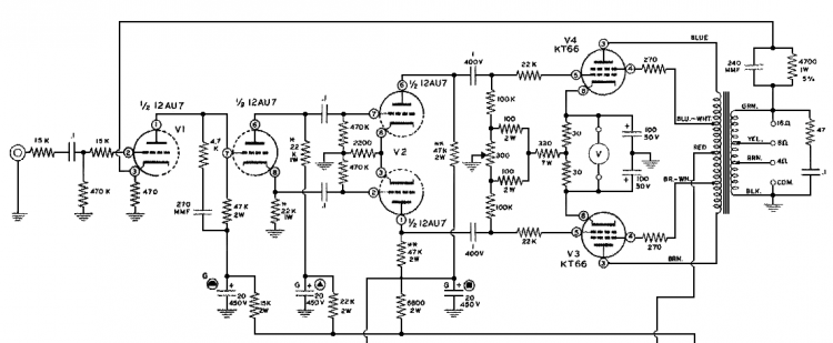 Heathkit model W-5M schematic