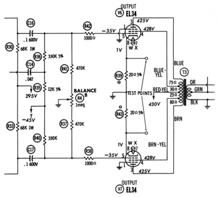 Pilot SA-260 amplifier schematic